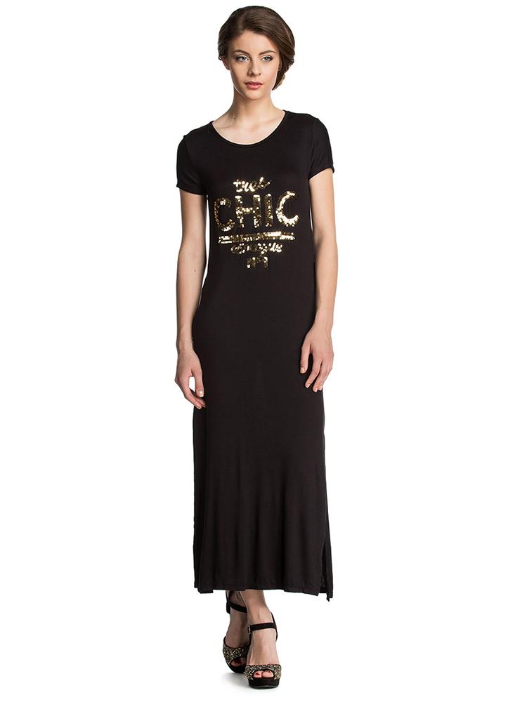 f0b693f7bc flitteres fekete maxi ruha webshop ár: 6.990 Ft