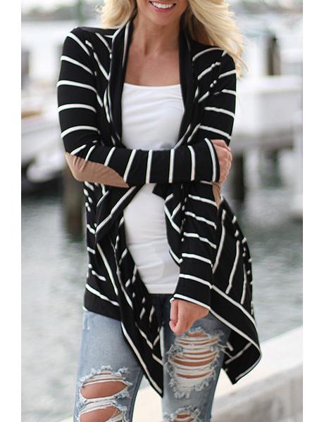 0d05bfefc3 fekete fehér csíkos női kardigán webshop ár: 5.990 Ft