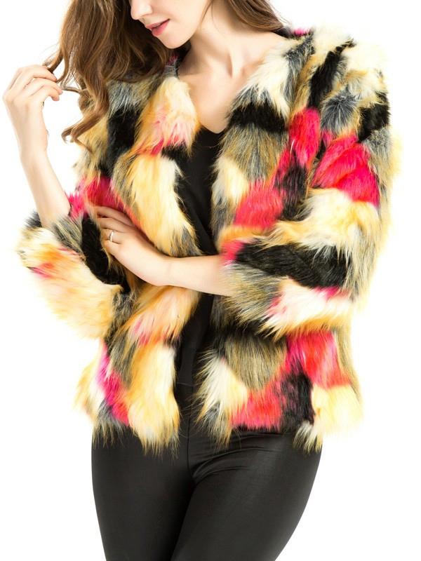 1e8f3615b7 divatos tarka műszőrme kabát webshop ár: 12.990 Ft